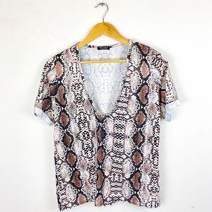 Nasty Gal Snakeskin T-Shirt